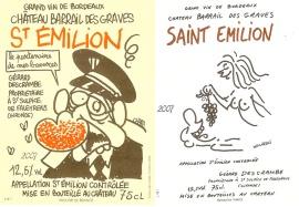 Esta son dos de las etiquetas creadas por los caricaturistas del conocido semanario.